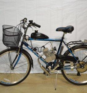 Велосипед STELS с мотором