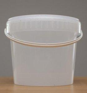 ведро пластиковое пищевое с крышкой 5л
