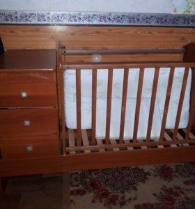 Детская кроватка 2 в 1