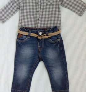 две рубашки и джинсы Zara