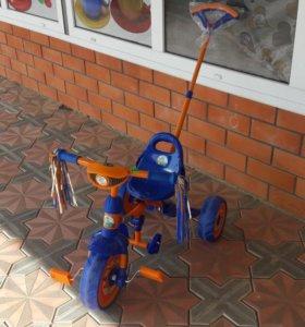 Новый детский велосипед.