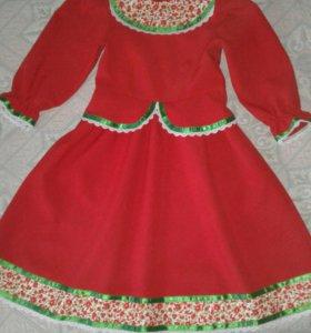 Платье для девочки 6-8 лет в народном стиле