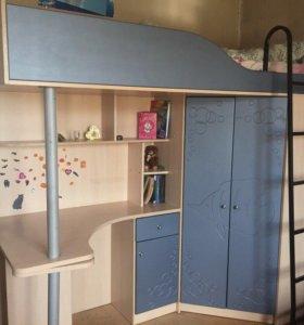 Кровать + письменный стол + шкаф