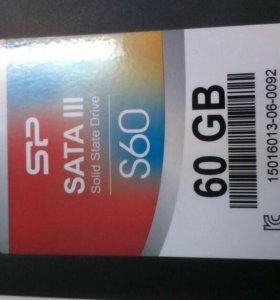 Ssd 60 Gb sata lll + салазки