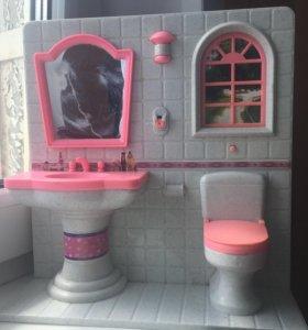 Туалетная комната в кукольный домик