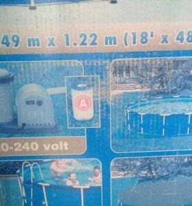 Бассейн 5,49мх 1,22м