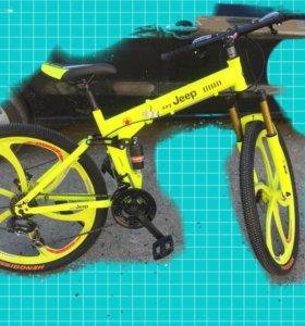 Новый горный велосипед на Литье складной