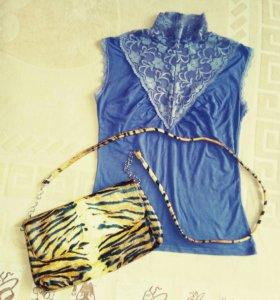 Срочно! Новая сумочка-клатч+блузка бесплатно!