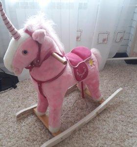 """Качалка """"Розовый конь"""""""