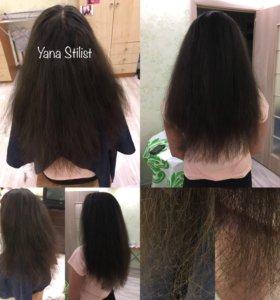 Полировка волос, прически, стрижки