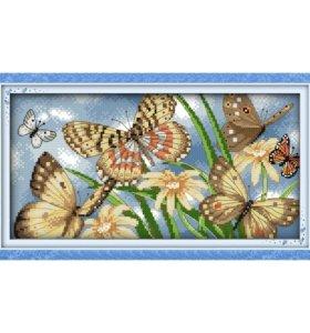 Набор для вышивания крестом Бабочки