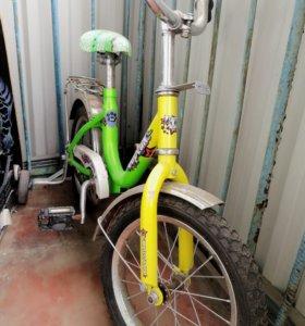Детский велосипед металический бу