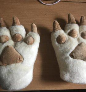 Перчатки в виде лап
