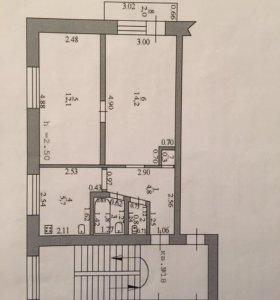 Квартира, 2 комнаты, 39.7 м²