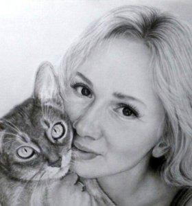 Портрет на заказ по фото (карандаш/уголь)