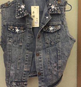 Жилет джинсовый 46-48