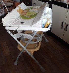 Пеленальный столик-ванночка 2в1