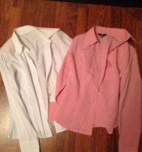 Рубашки розовая и белая
