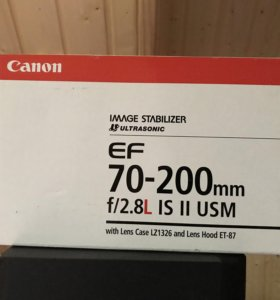 Пустая коробка под объектив Canon ef 70-200mm ii