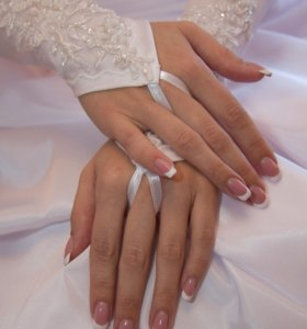 перчатки свадебные