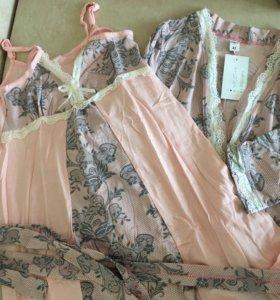 Халат и ночнушка для беременных и корямящих