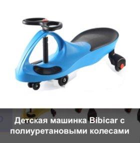Детская машина bibicar на рулевом управлении б/у