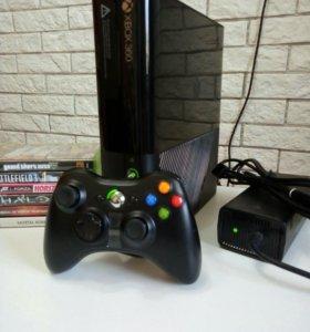 Xbox 360 E 250gb + 6 игр