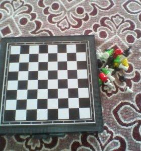 Настольные мини шахматы, шашки и др.