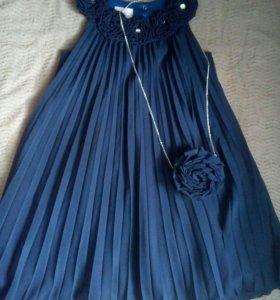 Платье темно-синие