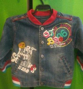 Джинсовая курточка 80 размер