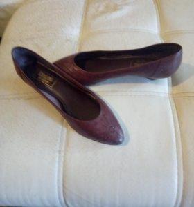 Туфли коричневого цвета натуральная кожа