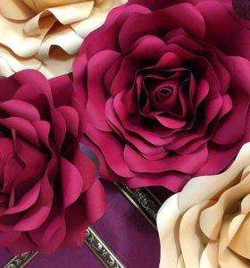 Интерьерные цветы ручной работы