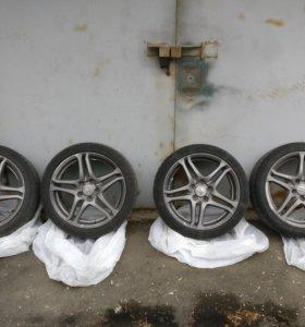 Оригинальные диски Honda+резина Continental