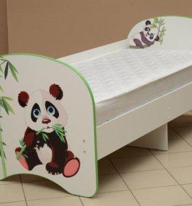 Детская кроватка с фотопечатью Панда
