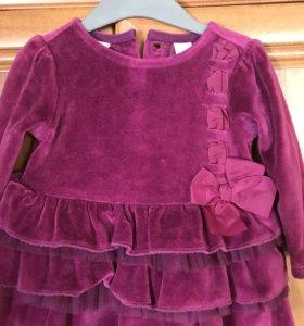 Детское платье 1-6 мес
