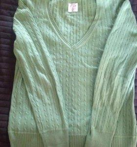 Пуловер женский h&m размер L, салатовый