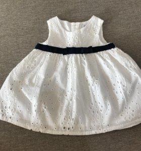 Белое платье Babaluno, размер 56-62.