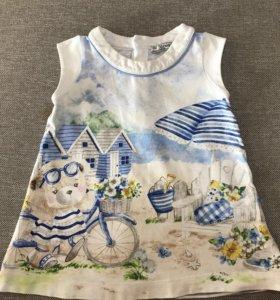 Платье фирмы Mayoral, р. 80 см (12мес)