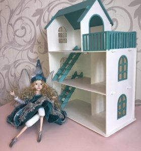 Кукольный домик 49 см. для игрушек до 13 см.