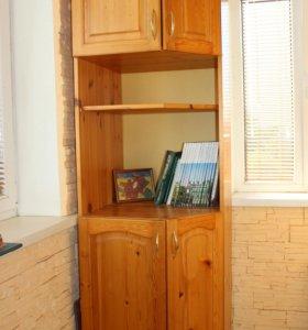 Шкаф угловой из сосны.