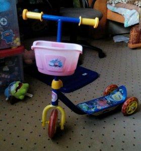 Самокат детский 3-х колесный.