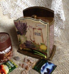 Комодик для чайных пакетиков Лаванда