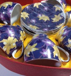 Подарочный набор чашки на 6 персон
