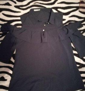 Новая рубашка. Темно-синяя.
