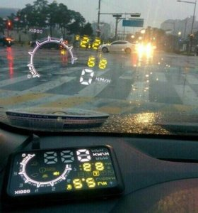 Проектор на лобовое стекло автомобиля