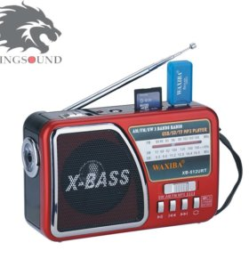 Радиоприёмник с FM радио, карт памяти и USB Flash