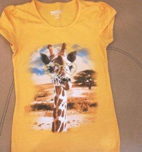 Футболка с жирафом