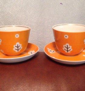 Чайные пары Дулево ссср