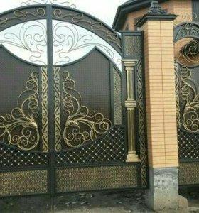 Ворота,Навесы, перила,двери