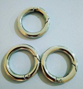 Кольцо-карабин разжимное диаметр 2,5 см
